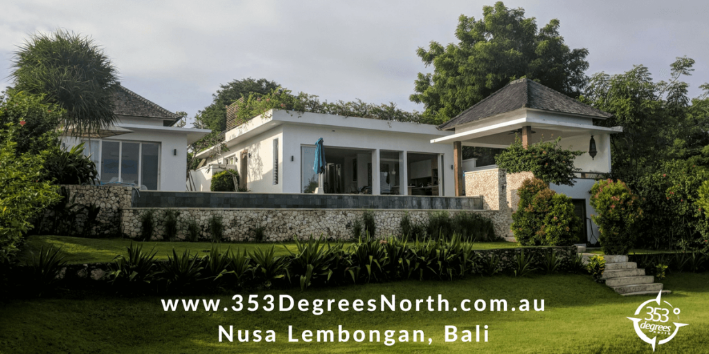 VILLA 353 DEGREES NORTH ON NUSA LEMBONGAN, BALI AND AND HOW IT CAME TO BE