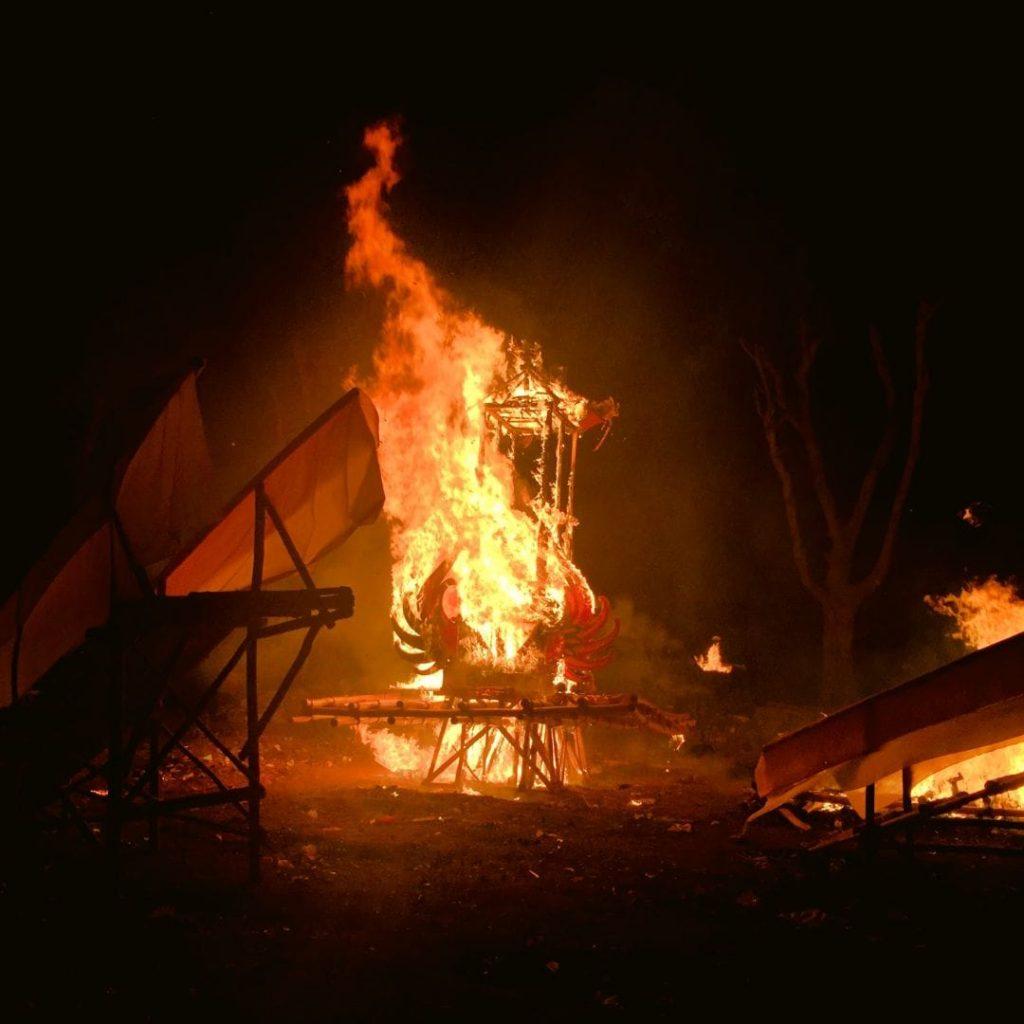 Burning of the Ogah-Ogah on Nyepi Eve On Nusa Lembongan
