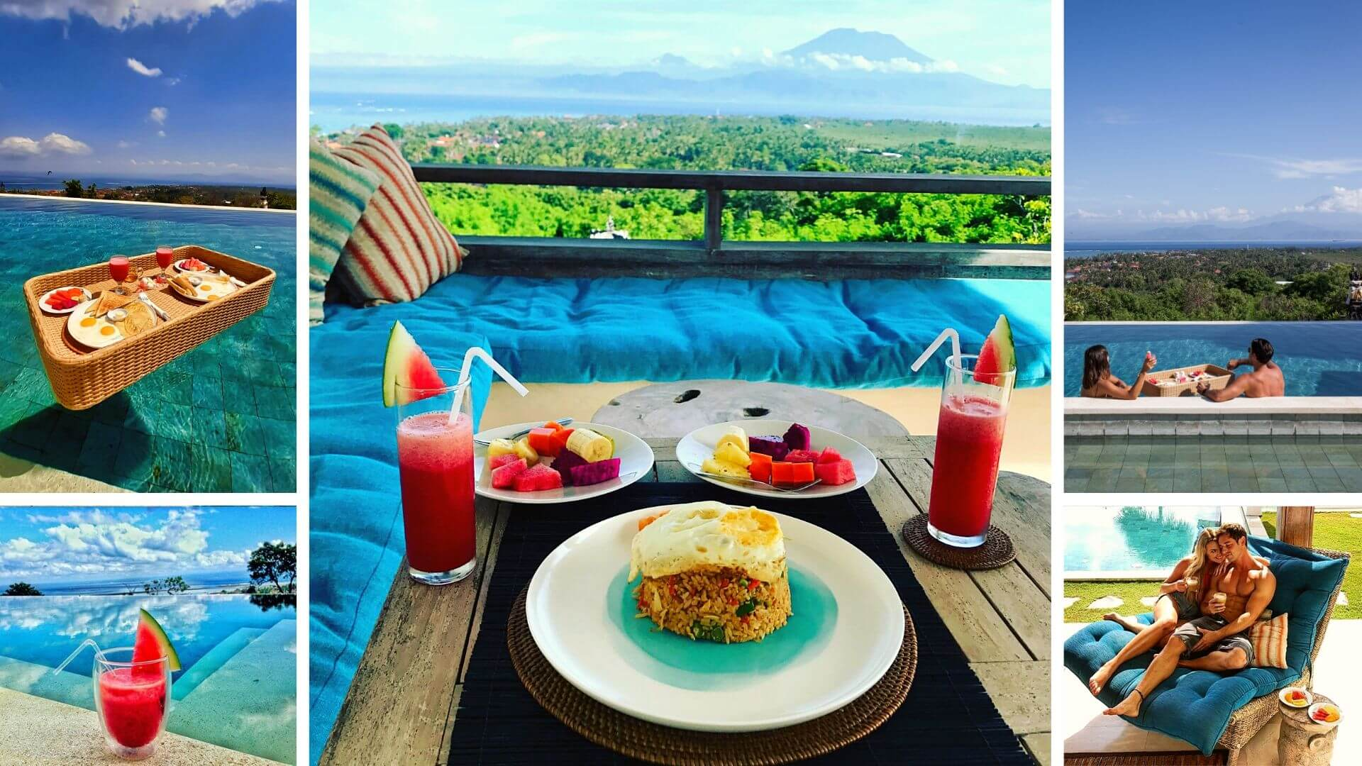 BREAKFAST COLLAGE AT VILLA 353 DEGREES NORTH on Nusa Lembongan
