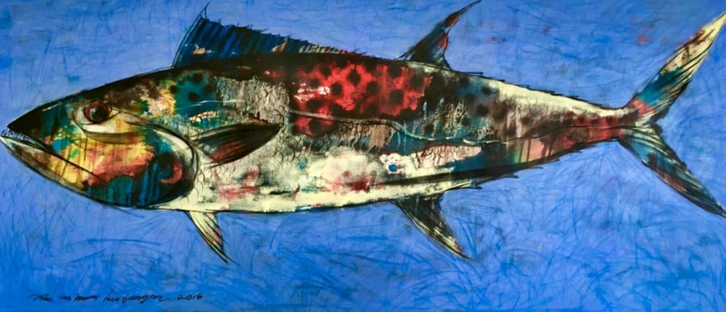 FISH PAINTING BY RAI ART SPACE AT VILLA 353 DEGREES NORTH
