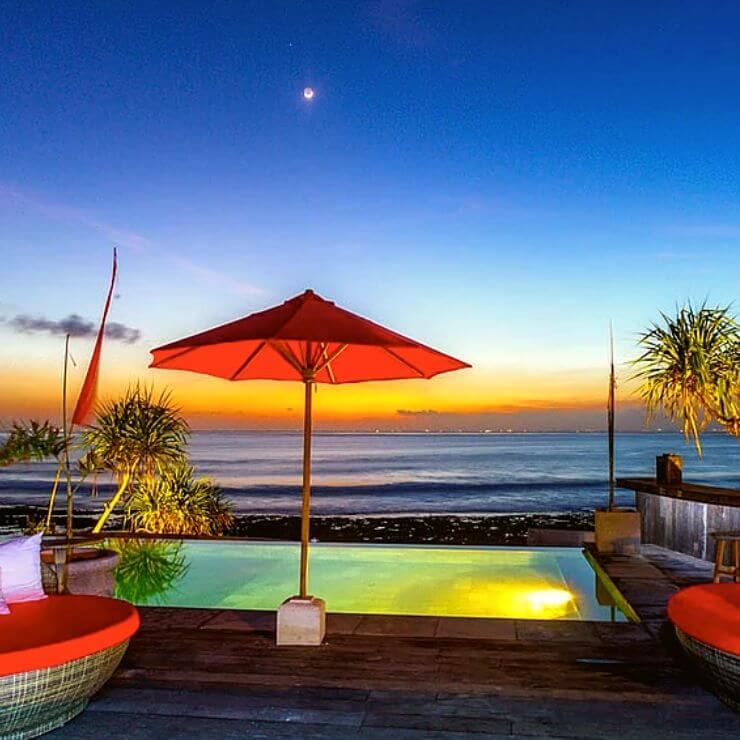 SUNSET AT THE PALMS ON NUSA CENINGAN