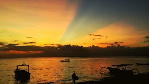 SUNSET FROM JUNGUT BATU BAY ON NUSA LEMBONGAN