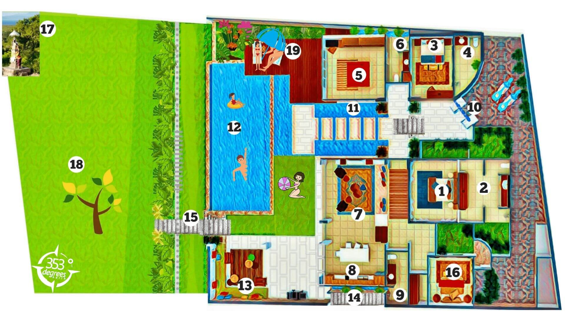 THE VILLA 353 DEGREES NORTH FLOOR PLAN