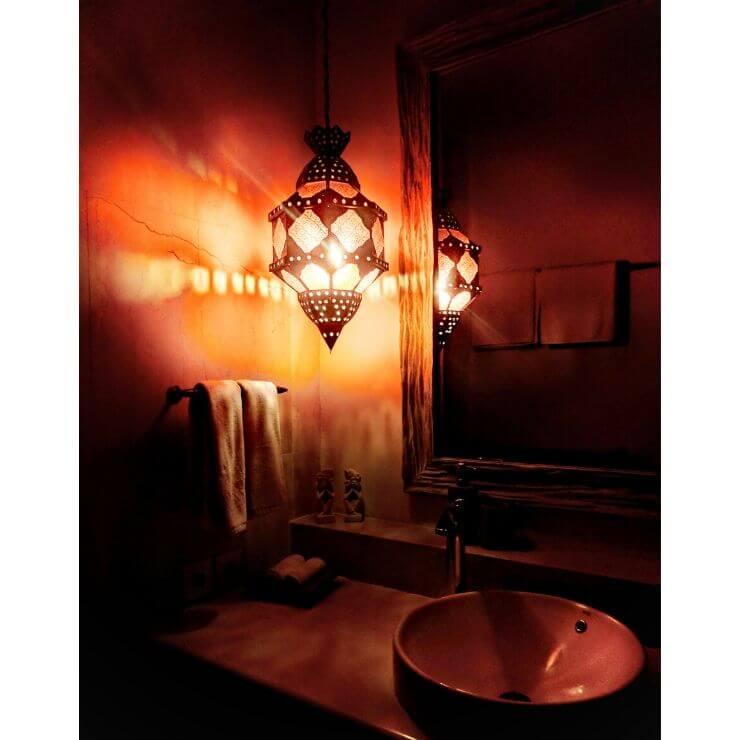 BATHROOM PENDANT AT VILLA 353 DEGREES NORTH