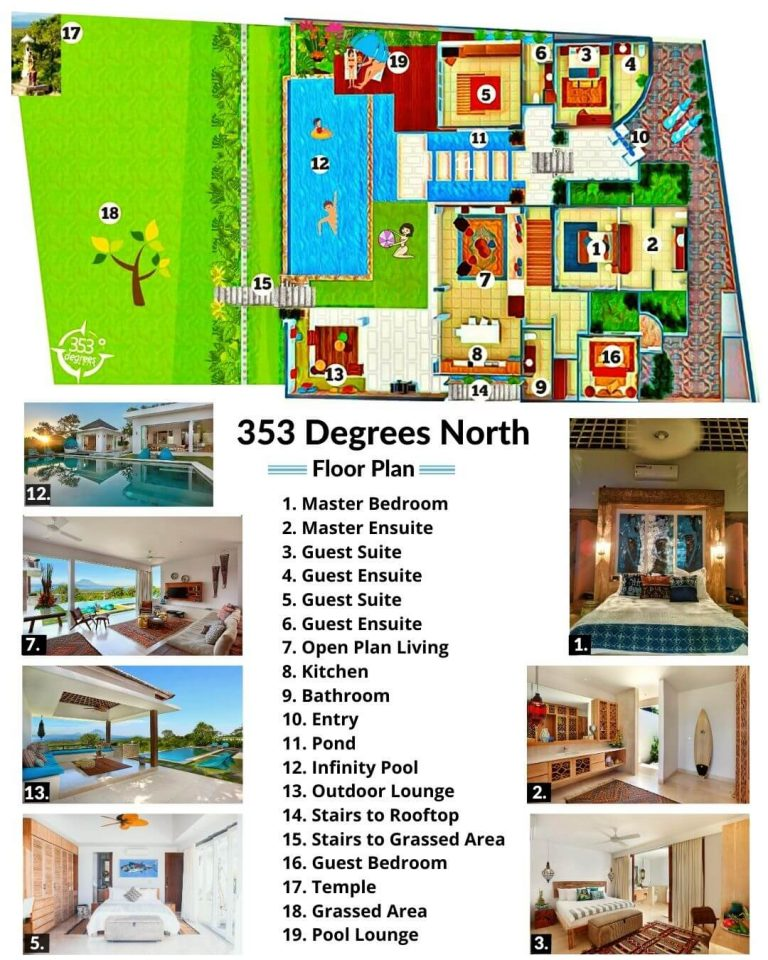 Villa 353 Degrees North On Nusa Lembongan, Bali - Floor Plan